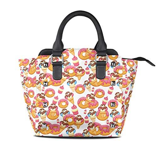 Donut Glazed Delicious Ale Women Top Handle Satchel Handbags Shoulder Bag Tote Purse Messenger Bags