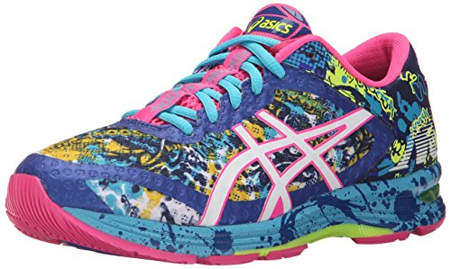 ASICS Women's Gel-Noosa Tri 11 Running Shoe, Blue/White/Hot Pink, 9 M US