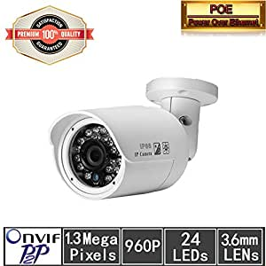 Huacam HCV701 1.3 Megapixel HD Outdoor IP Camera with Night Vision, H.264 & MJPLEG Video Format,1/3 COMS Sensor,Two Way Audio,IR-Cut Filter,Motion Detection,Synology Support,ONVIF Support,SIP/VOIP Support.Android /iOS supported