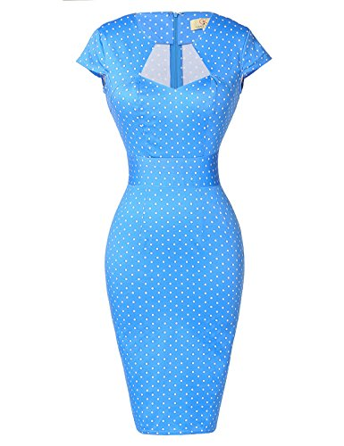 Paul Jones Womens Cap Sleeve Cocktail Vintage Dress Blue(S) for $<!--$25.99-->