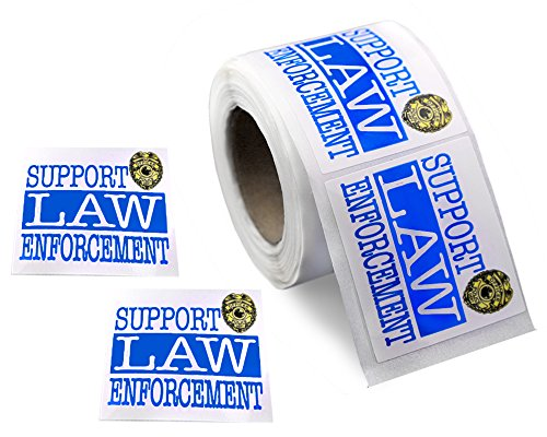 250 Police Support Law Enforcement Stickers (250 Stickers)]()