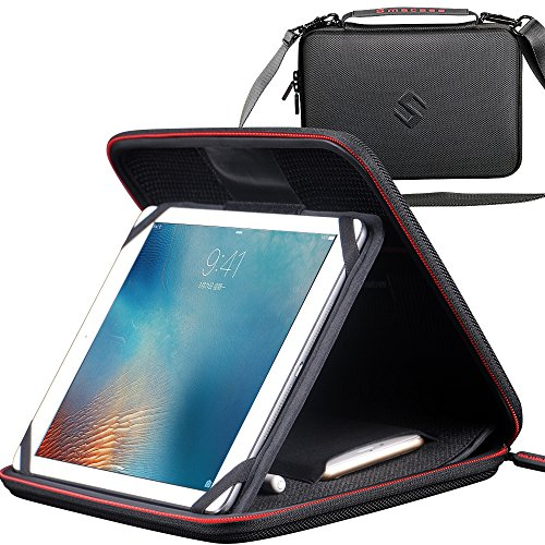 Smatree Multifunctional Carry Case for New iPad Pro 9.7 inch, Unique Adjustable Stand for iPad Pro 9.7 inch w/Pocket for iPhone 7,Plus,Apple Pencil (Case Pocket Carry)