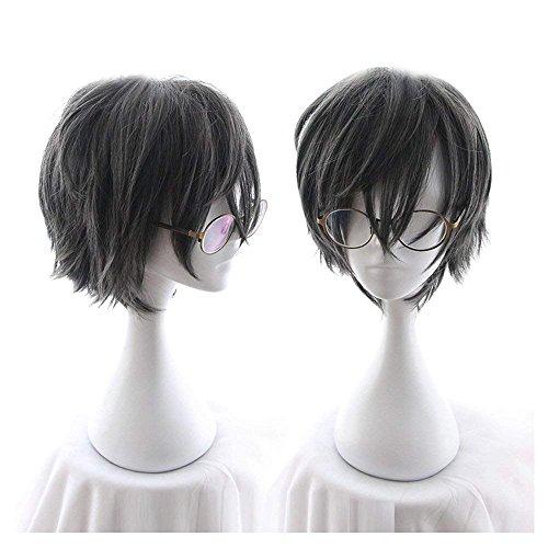CHC FAIRY Men's Short Straight Wig Cosplay Costume Wig (grey Black) by CHC FAIRY