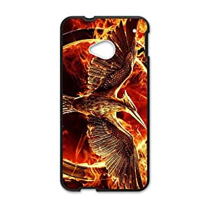 LINGH tribute von panem mockingjay Hot sale Phone Case for HTC ONE M7 Black