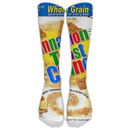 GUYEUD 15.74in Unisex Cinnamon Toast Crunch Fashion Design High Socks Leg Warmers Football Aseball For Men Women