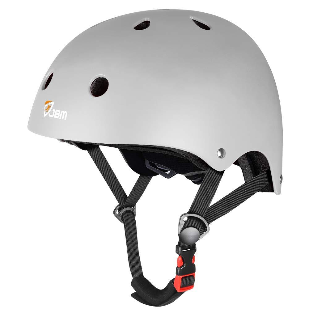 JBM Skateboard Helmet CPSC ASTM Certified Impact Resistance Ventilation for Multi-Sports Cycling Skateboarding Scooter Roller Skate Inline Skating Rollerblading Longboard by JBM international