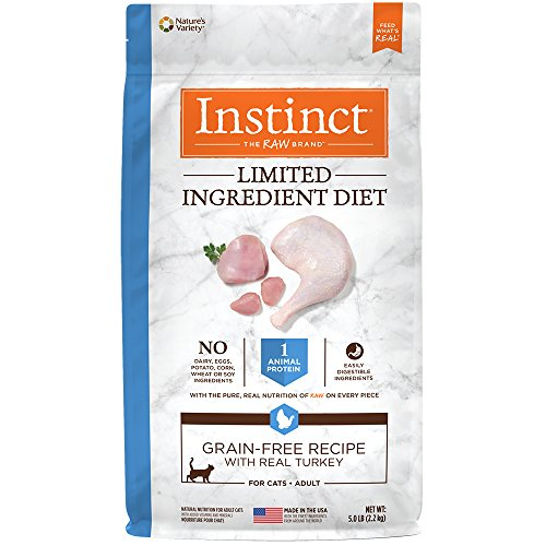 Nature's Variety Instinct Limited Ingredient Diet Grain Free Recipe with Real Turkey Natural Dry Cat Food by, 5 lb. Bag