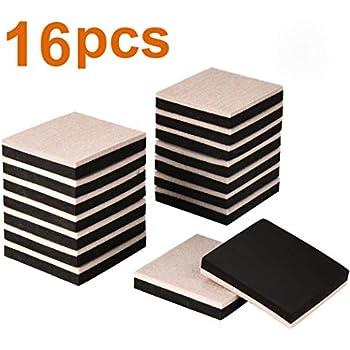 Ezprotekt 16pcs Furniture Sliders 3 5 Inch Square Felt
