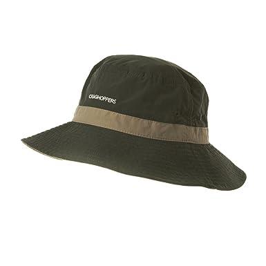 Craghoppers Nosilife Sun Hat - Dark Khaki   Pebble - ML  Amazon.co ... abef5450002