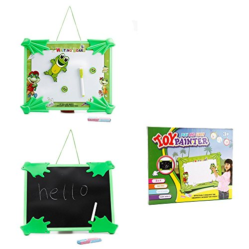 ToyerBee Plastic Tabletop Easel Double-sided Magnetic Chalk Dry Erase Writing and Drawing Board For Kids - Happy Frog (Alex Magnetic Tabletop Easel compare prices)