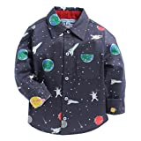 CrayonFlakes Grey Long Sleeve Shirt in 100% Cotton with Universe Design