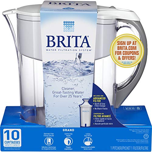 Brita Large 10 Cup Water Filter Pitcher with 1 Standard Filter, BPA...