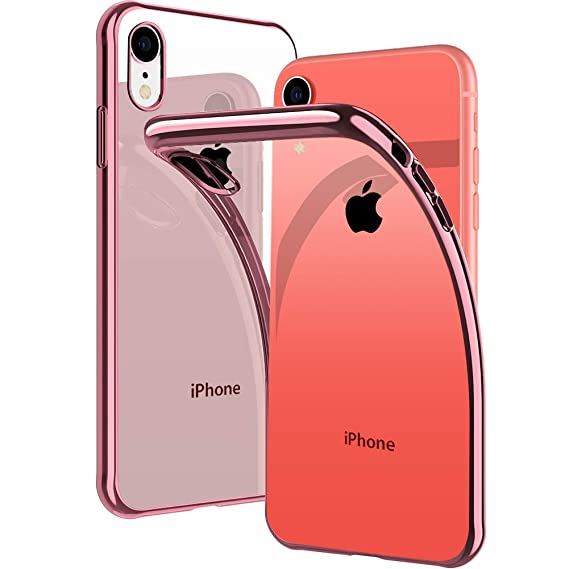 factory authentic ede7c fb333 DIACLARA Crystal Clear iPhone XR Case, Ultra Slim Fit Soft TPU Cover with  Electroplated Bumper Flexible Thin Case Compatible with Apple iPhone XR 6.1  ...