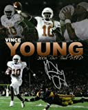 Signed Vince Young Photo - 8x10 Rose Bowl Collage) - Autographed College Photos