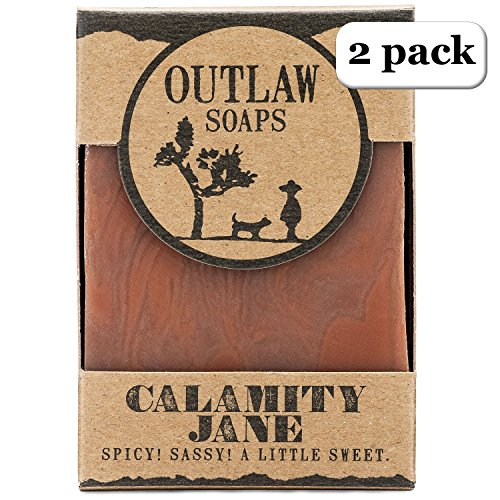 Calamity Jane Spicy Soap - 2 Pack - A Spicy Combination of Clove, Cinnamon, Vanilla, and Orange Handmade Soap to Honor a Spicy Legend of the Wild West - Men's or Women's Soap