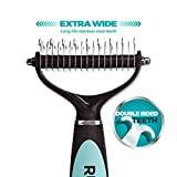 Dematting-Tool-for-Dogs-The-Best-Dog-Grooming-Comb-for-Undercoat-Removal–Professional-Rake-Brush-for-Small-Medium-and-Large-Breeds-with-Medium-and-Long-Hair-Coats-Rubold-Fur-Perfection