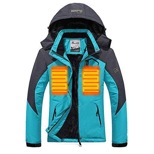 Men's Waterproof Fleece Parka Windproof Ski Jacket Mountaineering Windbreaker,Brass,5XL