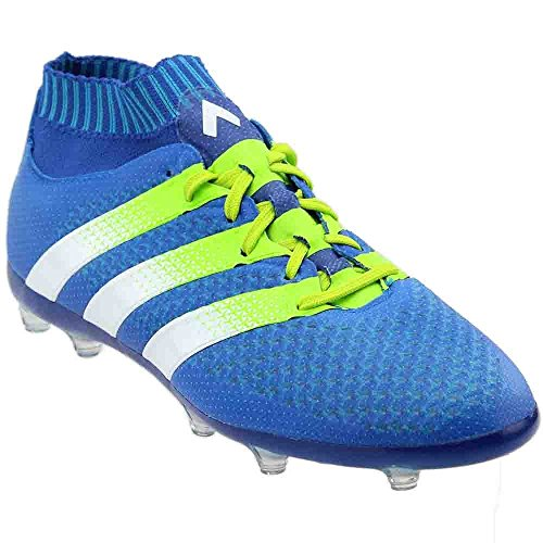 Adidas Junior Edge - adidas ACE 16.1 Primeknit FG AG Junior, 5.5 D(M) US, Shock Blue/Semi Solar Slime/White
