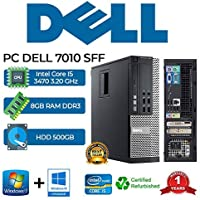 PC DELL 7010 SFF Intel Core i5 3470 3.20Ghz/RAM 8GB/500GB/DVD+RW/WIN 10 PRO (Ricondizionato)