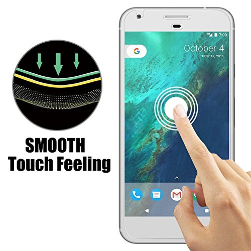 Google Pixel 2 Screen Protector, Hoperain - Bubble Free, 9H Hardness, Fingerprinting, Full Coverage, Easy-Mount, HD Transparent Tempered Glass Screen Protector for Google pixel 2 [Full Rim] Photo #6