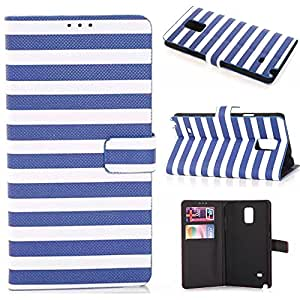 Note 4 flip case,Creativecase#NT001 Samsung note 4 case new beautiful Wallet and PU Leather design samsung note 4 leather flip case with Credit ID card leather case for Samsung Note 4#06L