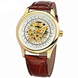 Men's Sport Cool Hollow Watch Luxury Skeleton Automatic Watch Cost-effective Clearance Fashion Man Dress by St.Dona (C)