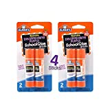 Elmer's bundle 2 pk of 6 gram Disappearing Purple Elmer's School Glue Stick, total of 4 sticks