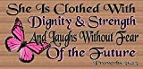 Cheap GiggleSticks She is Clothed With Dignity & Strength – Proverbs