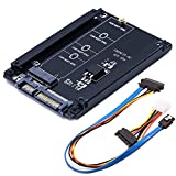Mailiya 2.5in SATA III 3 to M.2 NGFF SSD Connector Converter Adapter Card with SATA Data and Power Combo Cable - Support M.2 NGFF SATA 2280, 2260, 2242, 2230