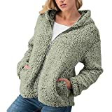 Women's Coat Open Front Clearance - Jiayit Women Winter Casual Warm Zipper Jacket Solid Outwear Coat Overcoat Outercoat (M, Army Green)