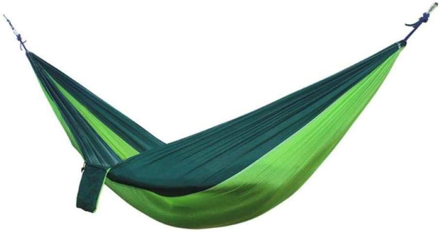 LLKK Hamaca Nylon portátil Doble Columpio para Acampar al Aire Libre Mochila Viaje Supervivencia Caza Dormir Hamaca paracaídas 04 03