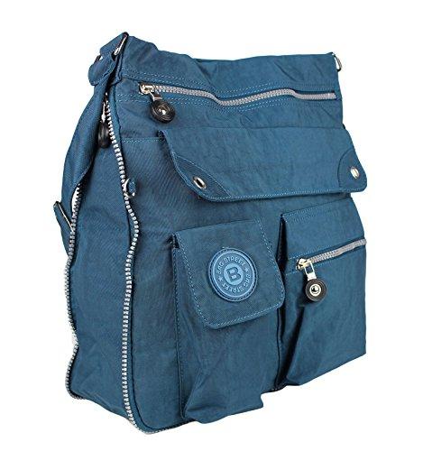 Bag tracolla Unisex Borsa tracolla Beige in borsa Nylon Blu Cross Street a Bag Body Borsa a Blu v4BwSqxvnr