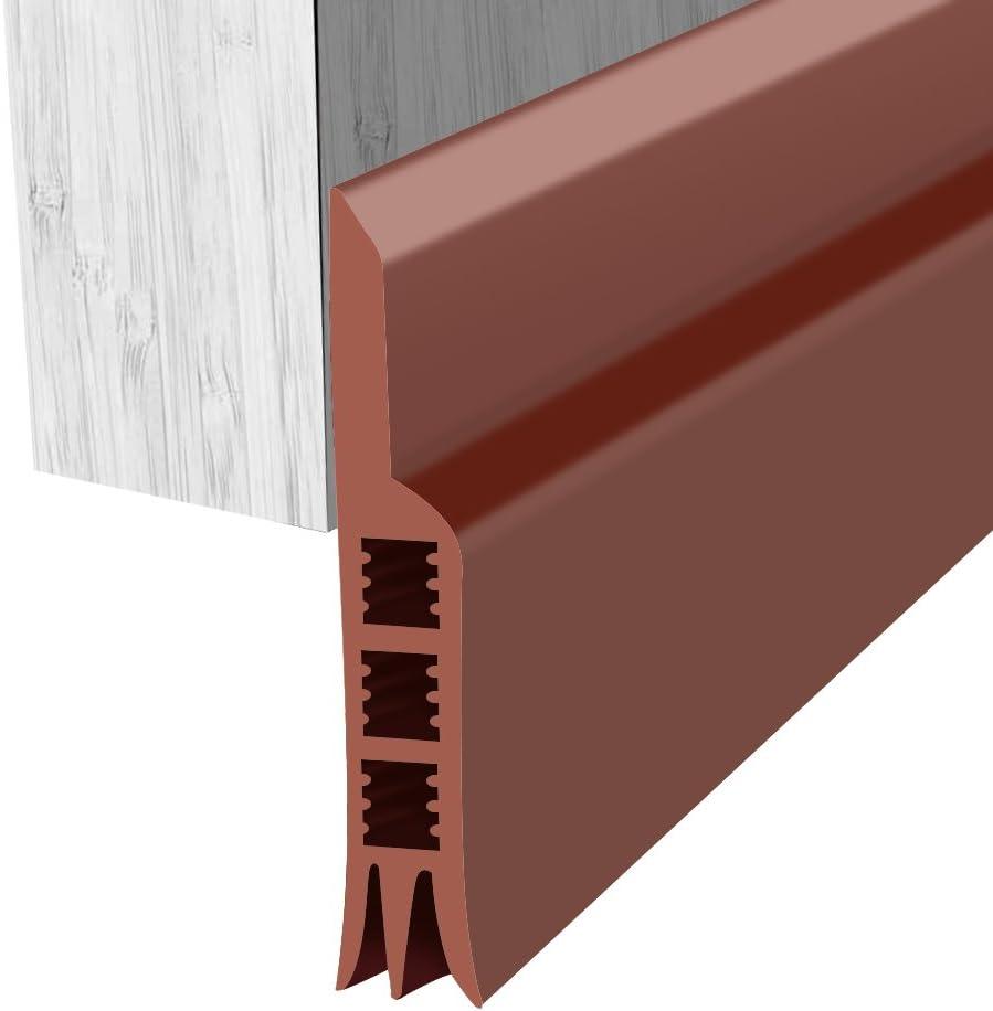 Surenhap Burlete de Seguridad Tira de Silicona con Buenos Sellos para Evitar la Entrada de Aire frío los Ratones y Las cucarachas 91 x 5 cm (Marrón)