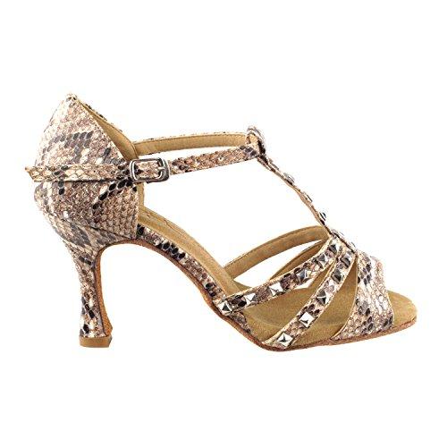 """50 Shades Of Tan Dance Kleid Schuhe Collection-II, Komfort Abendkleid Hochzeit Pumps: Ballroom Schuhe für Latin, Tango, Salsa, Swing, Kunst von Party Party (2,5 """", 3"""" & 3,5 """"Heels) Sera7012 braune Schlange"""