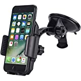 Car Mount,JAMRON Washable Strong Sticky Gel Pad for Windshield and Dashboard,Car Phone Holder with Quick Release Button for iPhone X/8 8 Plus/7 7 Plus/6s Plus/6s,Samsung S7/S8,Google Nexu,Lg and More
