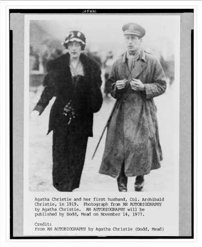 Historic Print (L): Agatha Christie and her first husband, Col. Archibald Chr...