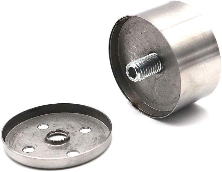 aleaci/ón de aluminio, 38 x 120 mm NUZAMAS color negro mate Juego de 4 patas ajustables para muebles