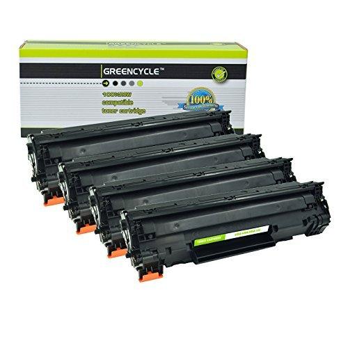 Greencycle 85A CE285A Black Toner Cartridge Compatible for HP LaserJet Pro M1212nf M1217nfw P1102w P1102 M1212 M1217 M1132 M1214 P1100 MF3010 M1210 Printer 4 Packs