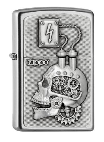ヨーロッパ直輸入Zippo ジッポー Skull Power Engine Head Emblem 2005139 B01M2XYI2B