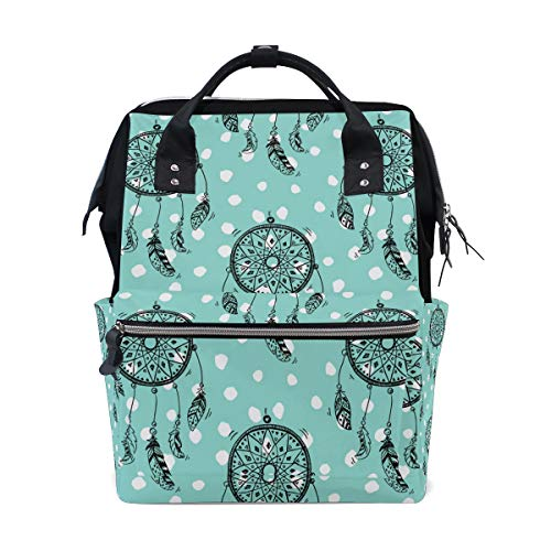 Student Travel School Backpack Dream Catcher Native American Style Laptop College Bags Shoulder Tote Bag