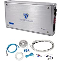 Rockville RXM-T2 Micro 2400w 2 Ch Marine/Boat Class D Amplifier 2x600W+Amp Kit