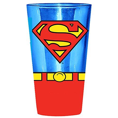 Silver Buffalo SP01031P DC Comics Superman Uniform Pint Glass, (Icon Pint Glasses)