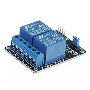 5V Two 2 Channel Relay Module With optocoupler Compatible With Arduino PIC AVR DSP ARM by Atomic Market