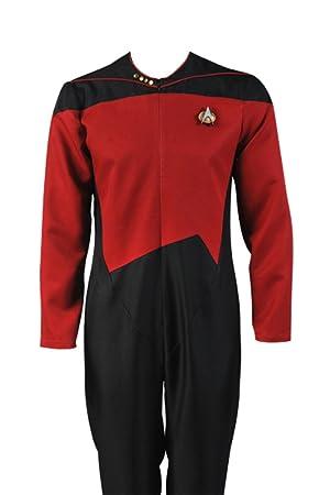 Daiendi Star Trek Comando Uniforme Rojo Traje Disfraz Adulto Talla ...