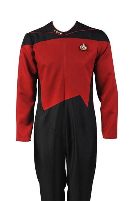 Daiendi Star Trek Comando Uniforme Rojo Traje Disfraz Adulto ...
