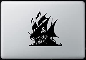 Glowing Skull Pirate Ship- Decal Sticker for MacBook, Air, Pro All Models