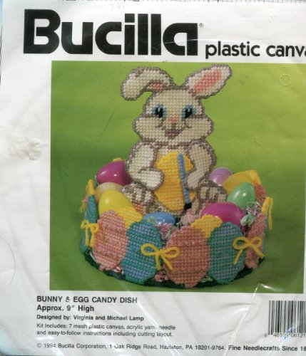 Bucilla Plastic Canvas Needlepoint Kit ~ Easter Bunny & Egg Candy - Needlepoint Bunny