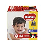 Health & Personal Care : HUGGIES Snug & Dry Diapers, Size 4, 82 Count, BIG PACK (Packaging May Vary)