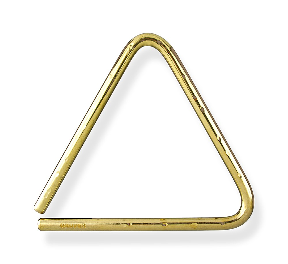 Grover Pro Bronze Hammered Lite Symphonic Triangle 8 in.