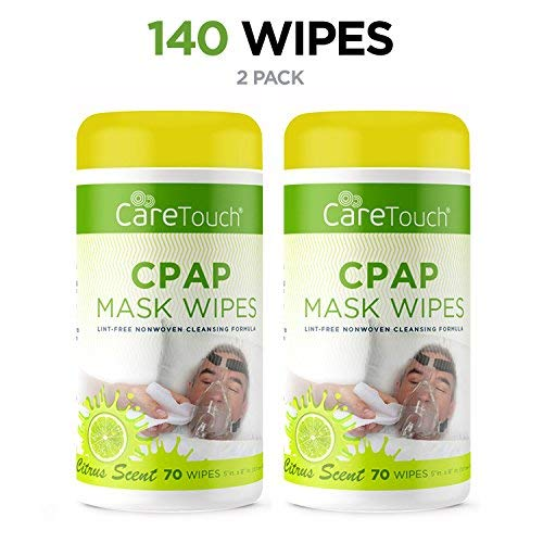 (Care Touch CPAP Cleaning Mask Wipes - Citrus Scent, Lint Free - 70 Wipes, Pack of 2 - 140 Wipes)